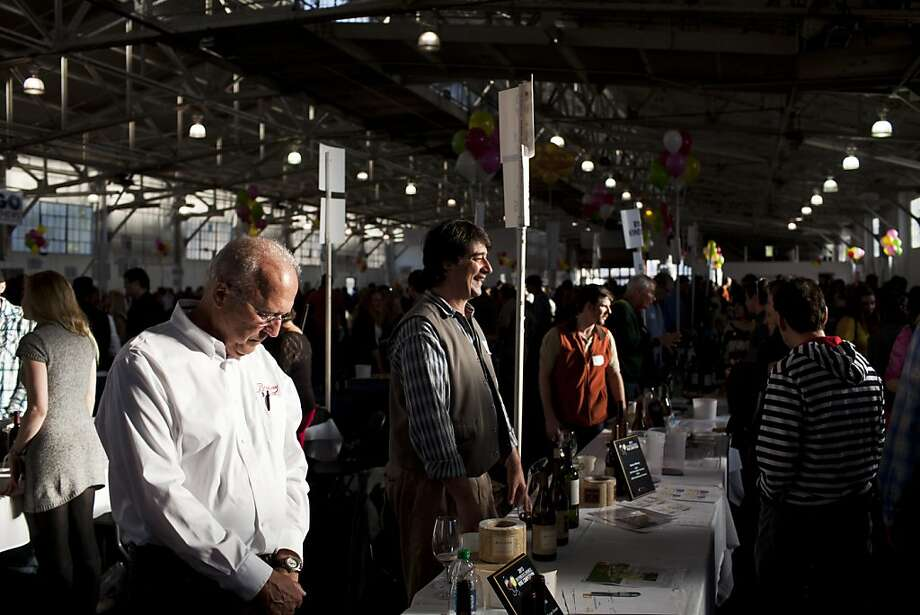 People packed into the Fort Mason Pavilion for the San Francisco Chronicle Wine Competition at Fort Mason in San Francisco, Calif., Saturday, February 16, 2013. Photo: Jason Henry, Special To The Chronicle
