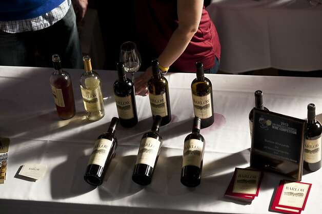 People tasted wines including Barlow Vineyards at the San Francisco Chronicle Wine Competition at Fort Mason in San Francisco, Calif., Saturday, February 16, 2013. Photo: Jason Henry, Special To The Chronicle
