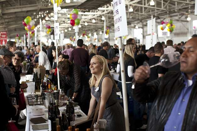 Cat Purcell of Crimson Wines at the San Francisco Chronicle Wine Competition at Fort Mason in San Francisco, Calif., Saturday, February 16, 2013. Photo: Jason Henry, Special To The Chronicle