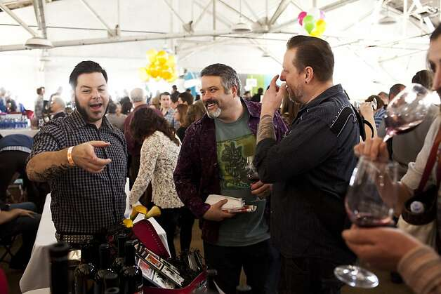 Attendees check out wines from Swanson Vineyards at the San Francisco Chronicle Wine Competition at Fort Mason in San Francisco, Calif., Saturday, February 16, 2013. Photo: Jason Henry, Special To The Chronicle
