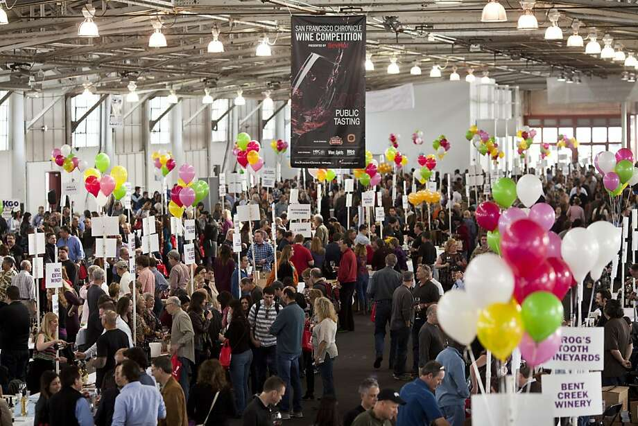 People filled the isles inside Fort Mason Pavilion to taste wines at the San Francisco Chronicle Wine Competition at Fort Mason in San Francisco, Calif., Saturday, February 16, 2013. Photo: Jason Henry, Special To The Chronicle
