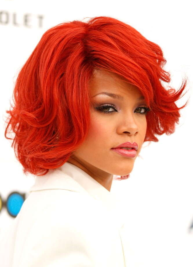 The red head Rihanna.  Photo: Isaac Brekken, Getty / 2011 Getty Images