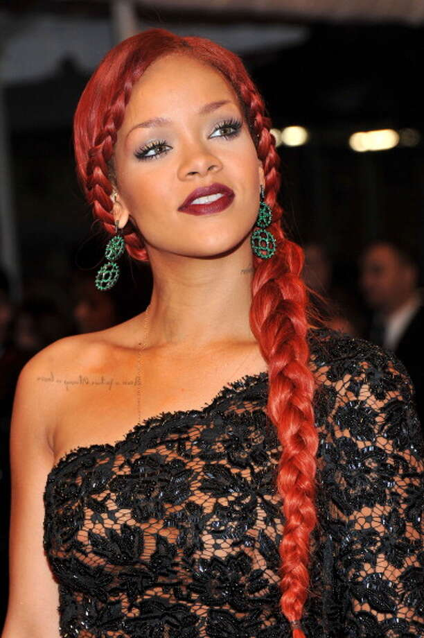 The braided Rihanna.  Photo: Stephen Lovekin, Getty / 2011 Getty Images