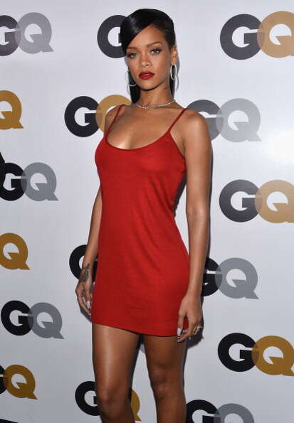 The little red dress Rihanna