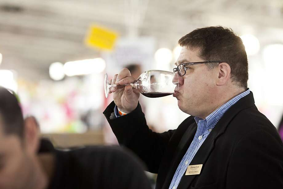 Richard Hurwitz of Chimney Rock Vineyards sampled a wine at the San Francisco Chronicle Wine Competition at Fort Mason in San Francisco, Calif., Saturday, February 16, 2013. Photo: Jason Henry, Special To The Chronicle
