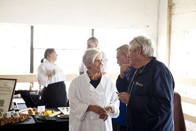Susan Foord, of Foord Catering, mingles with VIP attendees at the San Francisco Chronicle Wine Competition at Fort Mason in San Francisco, Calif., Saturday, February 16, 2013. Photo: Jason Henry, Special To The Chronicle