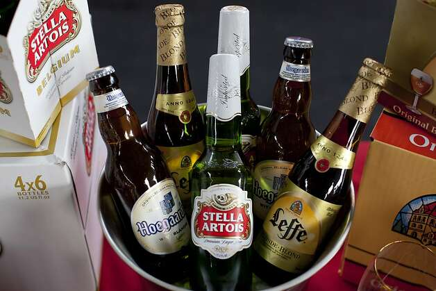 Stella Artois was a major sponsor, serving up Hoegaarden, Leffe and Stella Artois beers at the San Francisco Chronicle Wine Competition at Fort Mason in San Francisco, Calif., Saturday, February 16, 2013. Photo: Jason Henry, Special To The Chronicle