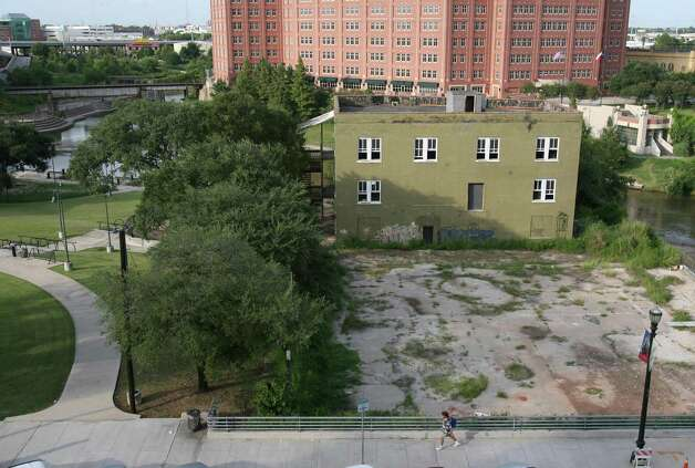 The Buffalo Bayou Partnership plans to begin a major remodeling and refocusing of the old International Coffee Company Building (Sunset Coffee) at Allen's Landing. Photographed on Wednesday, Aug. 22, 2007.  ( Sharon Steinmann / Chronicle ) Photo: Sharon Steinmann, Houston Chronicle / Houston Chronicle