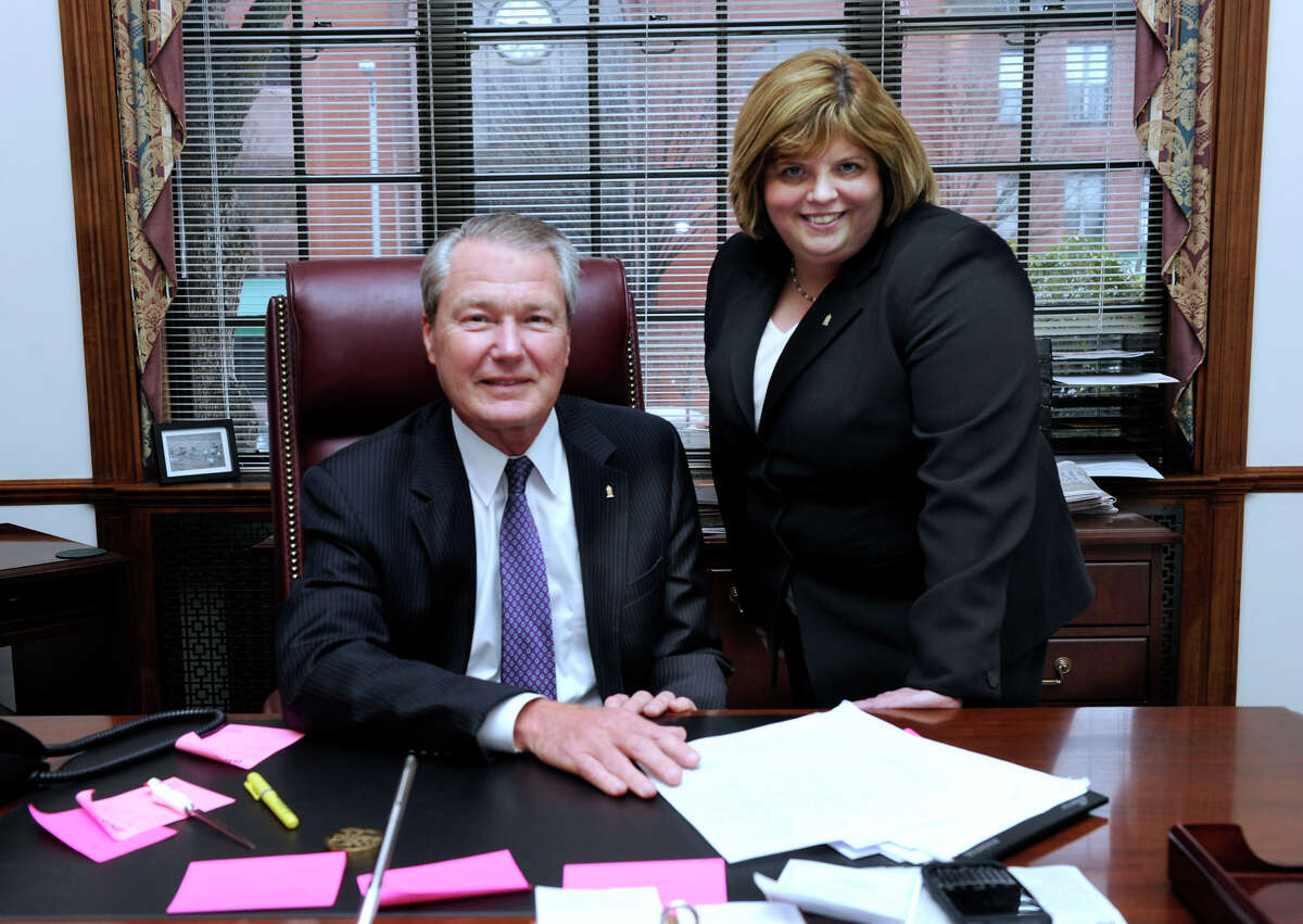 Hal Wibling, left, and Kathleen Romagnano are photographed in his office Tuesday, Feb. 19, 2013.