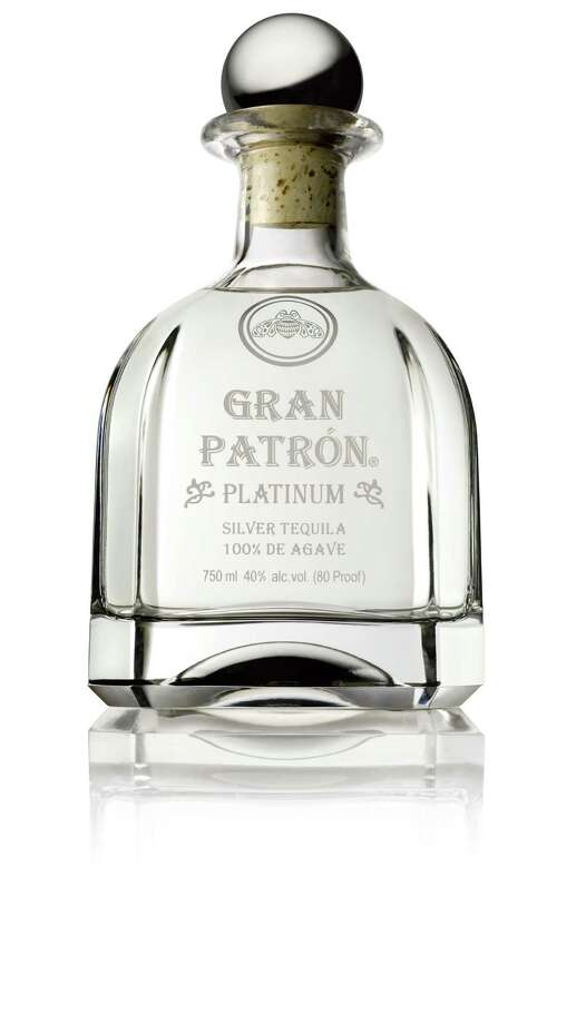 Gran Patron Platinum is a triple-distilled and wood finished platinum tequila in a hand-numbered bottle. Photo: Patron