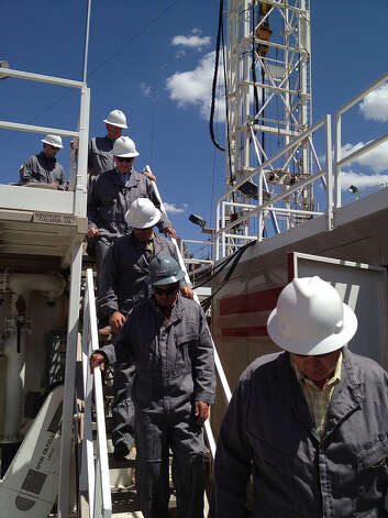 Speaker Boehner tours an oil rig near Midland, TX, with Texas Rep. Mike Conaway.