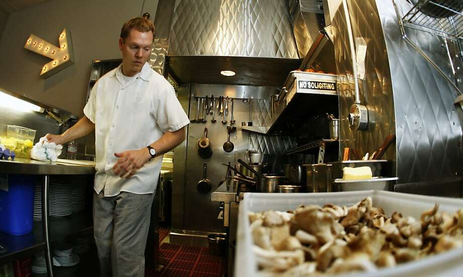 Canteen, chef Dennis Leary and his staff of one work in a small galley style kitchen that's cramped but still manage to produce great food. Tuesday June 23, 2009. Photo: Lance Iversen, The Chronicle
