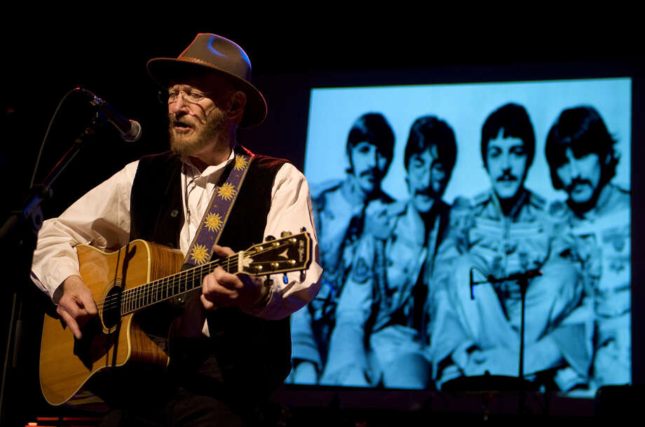 Tony Sheridan during an April 2012 show in the Netherlands. A Beatles image from the Sgt. Pepper's Lonely Hearts Club Band album is in the back. Sheridan recorded with The Beatles in 1961. He died in Feb. 2013 at age 72. Photo: Rob Verhorst, Redferns / Getty Images/Rob Verhorst
