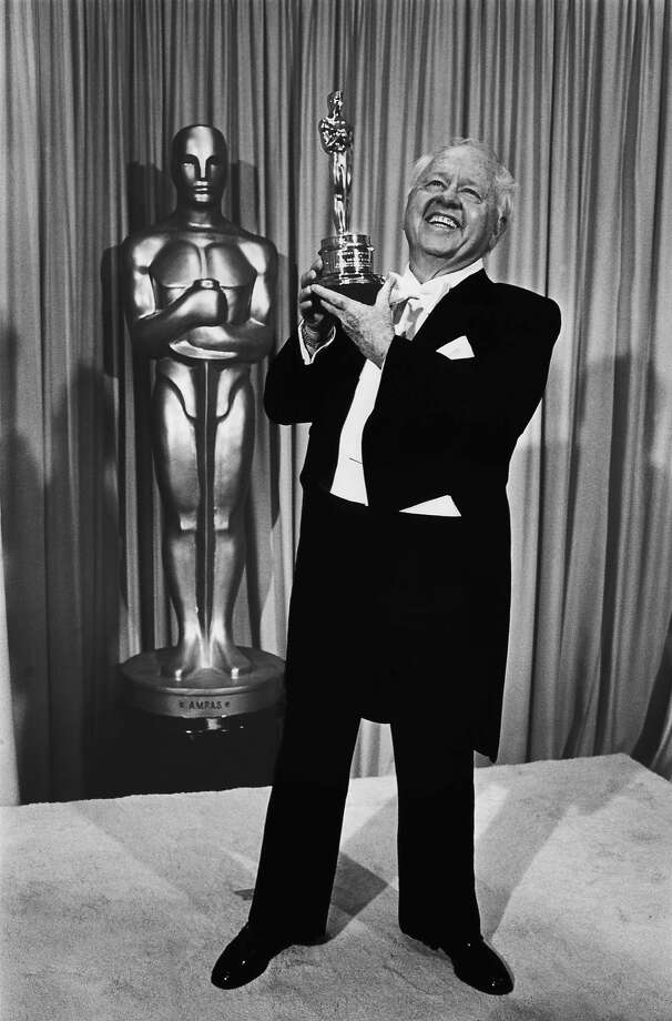 "Film actor Mickey Rooney poses with the ""Lifetime Achievement"" Academy Award backstage, following his acceptance speech, at the 1982 Academy Awards in Los Angeles, California. Actor Mickey Rooney died Sunday, April 6, 2014, at age 93. Photo: George Rose"