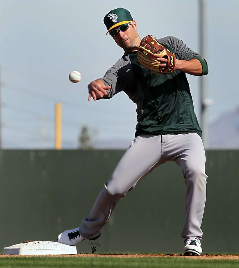 Scott Sizemore is looking like a natural at second base, his manager says, as if he had never switched to third. Photo: Lance Iversen, The Chronicle