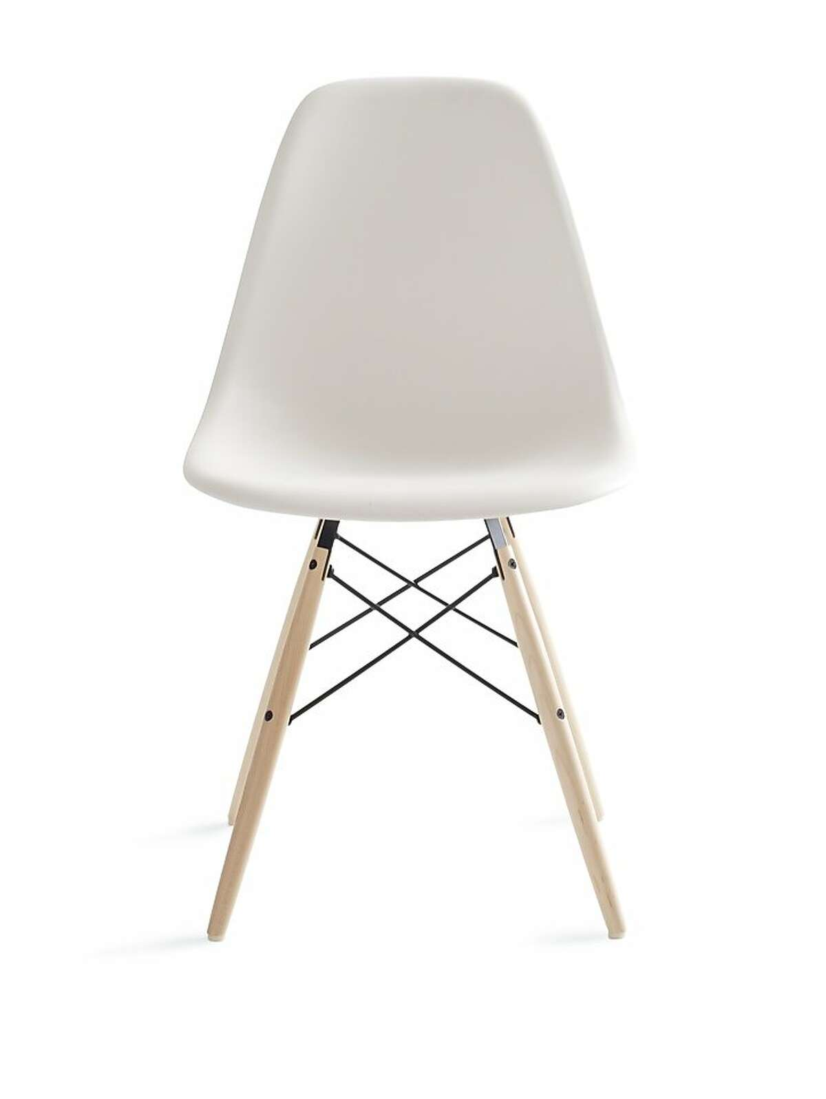 More: $399 to $428 Eames Molded Plastic Dowel-Leg Side Chair at Design Within Reach (dwr.com)