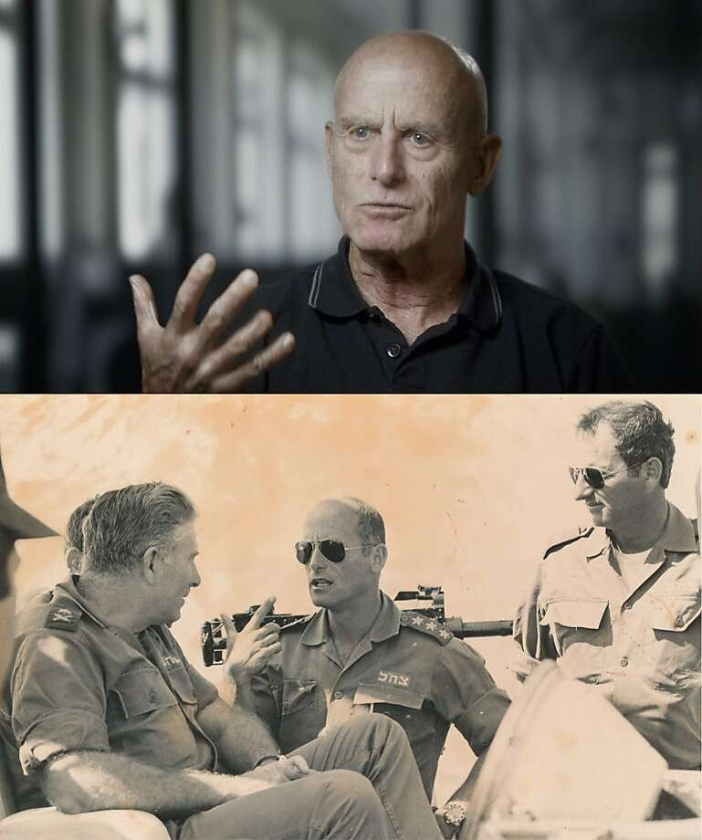 "Ami Ayalon (center) is one of the six heads of Shin Bet interviewed in the documentary ""The Gatekeepers."" Photo: Avner Shahaf (top); Courtesy Of, Sony Pictures Classics"