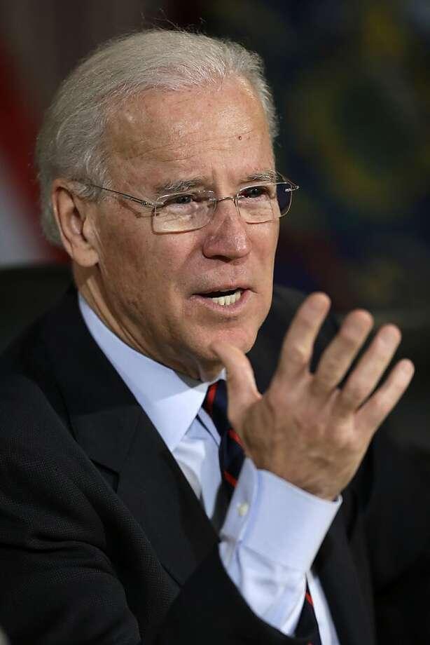 In a town hall meeting, Vice President Joe Biden said a shotgun was better suited for self-defense than an AR-15. Photo: Matt Rourke, Associated Press
