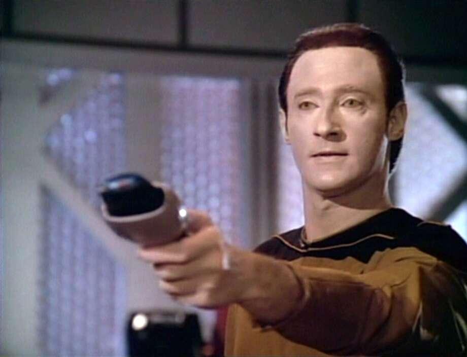 Brent Spiner as Lt.  Commander Data.
