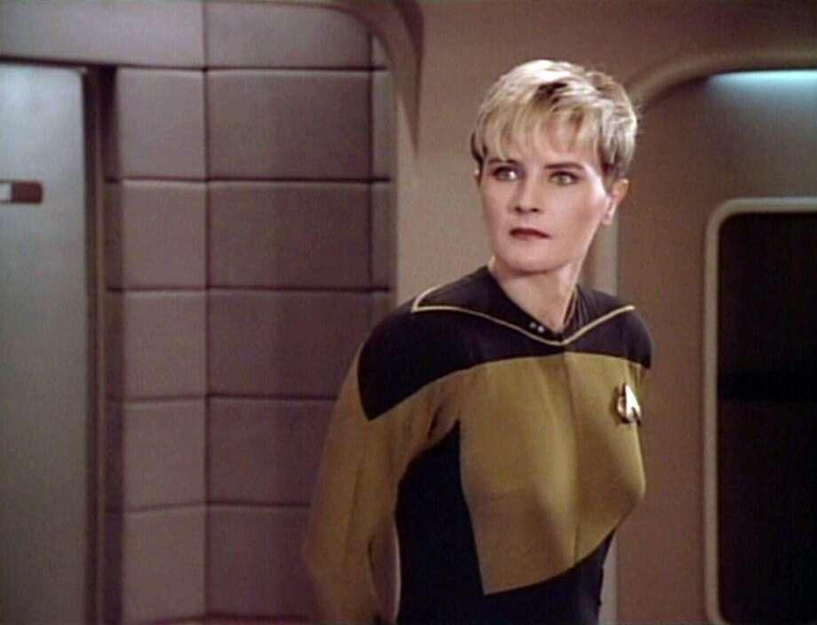 Denise Crosby as Lt. Tasha Yar in a 1988 episode of ''Star Trek: The Next Generation.''