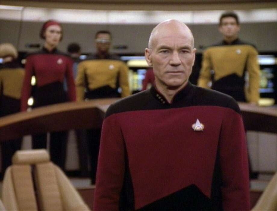 Capt. Picard (Patrick Stewart) commanding the good ship Enterprise in 1992.