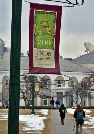Students on the Union College campus in Schenectady Tuesday Feb. 19, 2013.   (John Carl D'Annibale / Times Union) Photo: John Carl D'Annibale / 00021213A