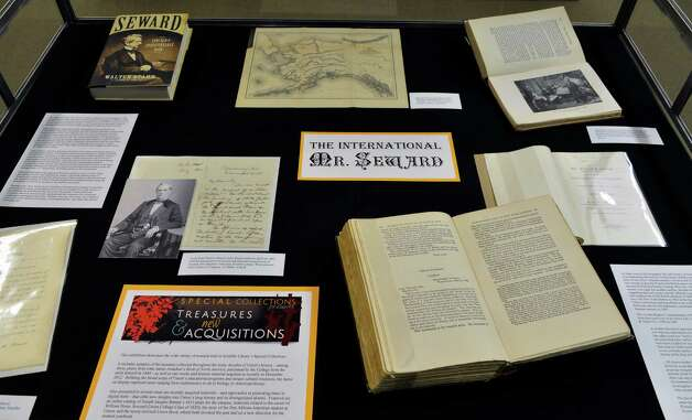 William Henry Seward archival material on display in the Union College Library in Schenectady Tuesday Feb. 19, 2013.   (John Carl D'Annibale / Times Union) Photo: John Carl D'Annibale / 00021213A