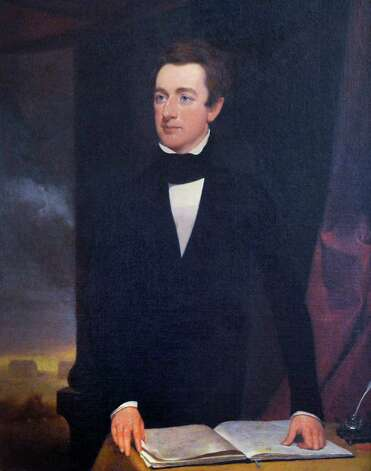 An early portrait of William Henry Seward, a member of Union's Class of 1820, in Union College president Stephen Ainlay's office on the Union campus in Schenectady Tuesday Feb. 19, 2013.   (John Carl D'Annibale / Times Union) Photo: John Carl D'Annibale / 00021213A