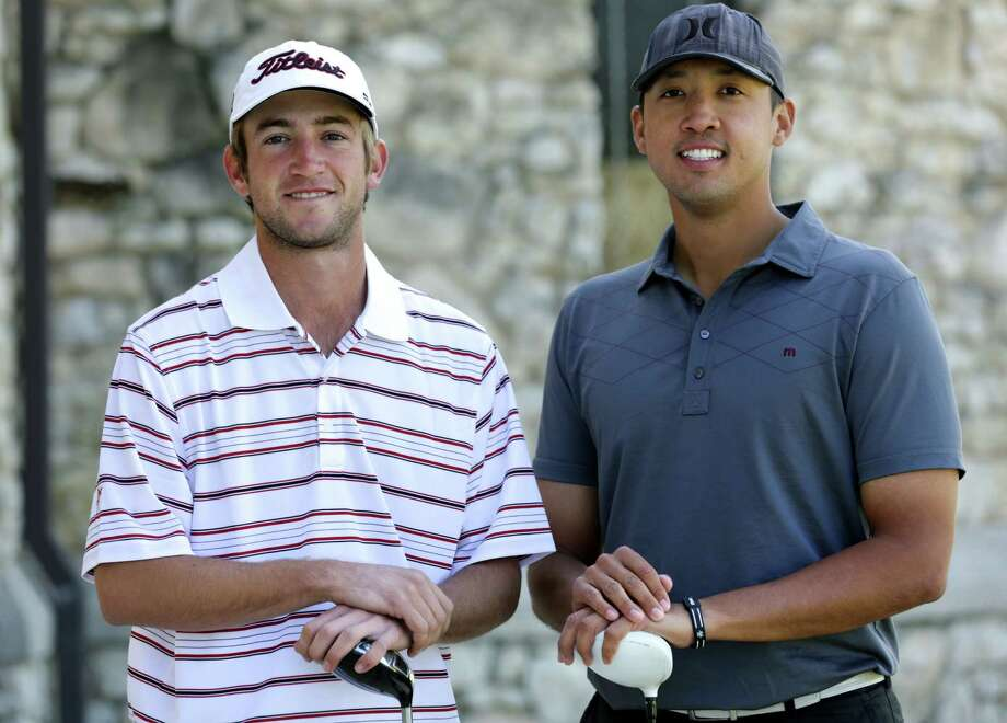 Texas Tech alumnus Will Griffin (left) and K.C. Lim, a St. Mary's-ex, will be traveling to the same Latin countries after qualifying for the PGA Tour Latinoamerica, a third-tier circuit below the PGA Tour and Web.com Tour. Photo: Bob Owen / San Antonio Express-News