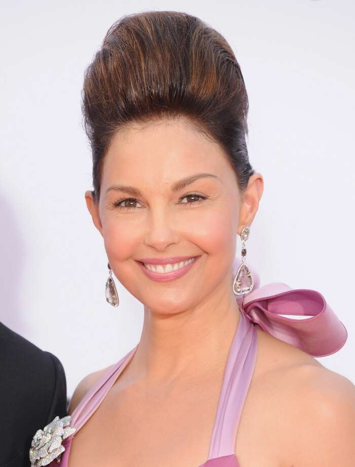 Ashley Judd, exhibiting a Star Trek-esque hairstyle at the 2012 Emmys.