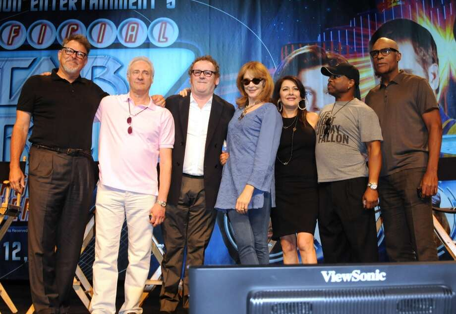 The cast of ''Star Trek: The Next Generation'' in 2012, at a Star Trek convention in Las Vegas.