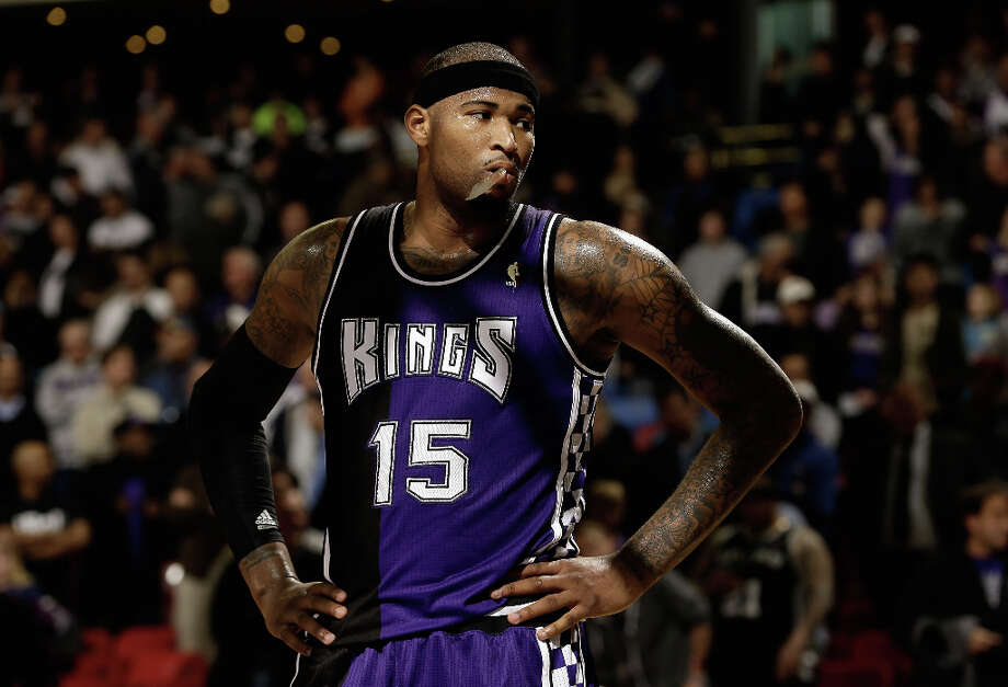 DeMarcus Cousins #15 of the Sacramento Kings stands on the court during the final minute of their loss to the San Antonio Spurs at Sleep Train Arena on February 19, 2013 in Sacramento, California. Photo: Ezra Shaw, Getty Images / 2013 Getty Images
