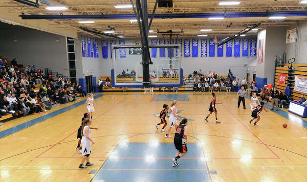 Girls high school basketball FCIAC semifinal game between Stamford High School and Trumbull High School at Fairfield-Ludlowe High School, Tuesday, Feb. 19, 2013. Photo: Bob Luckey / Greenwich Time