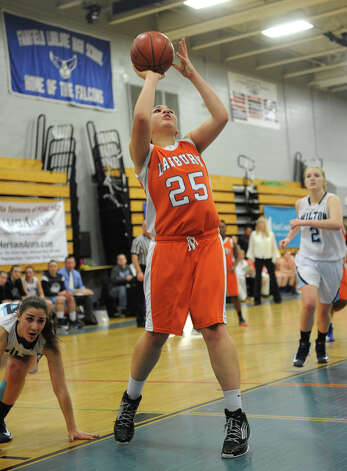 Danbury v. Wilton FCIAC girls' basketball semi-finals at Ludlowe High School in Fairfield on Tuesday, February 19, 2013. Photo: Brian A. Pounds / Connecticut Post