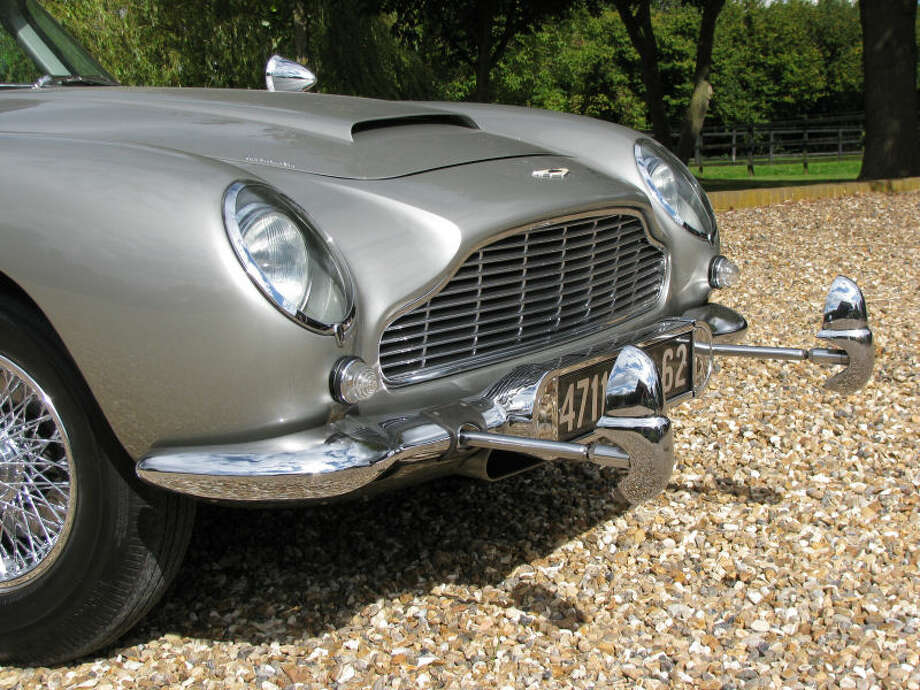 "This gadget-packed Aston Martin DB5 was one of four cars used to promote the James Bond films ""Goldfinger"" and ""Thunderball."" It is up for sale for $4.6 million.