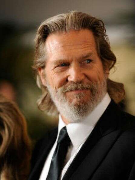 Jeff The Dude Bridges' signature beard getting whiterPHOTO BY KEVORK DJANSEZIAN/GETTY IMAG