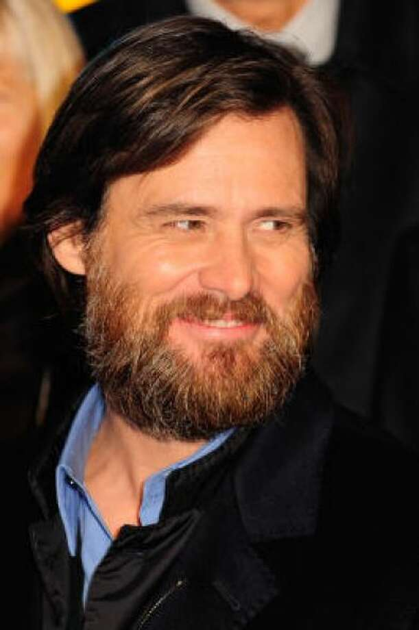 Jim Carrey's beard goes long.PHOTO BY MARCO SECCHI/GETTY IMAGES FOR DISNEY