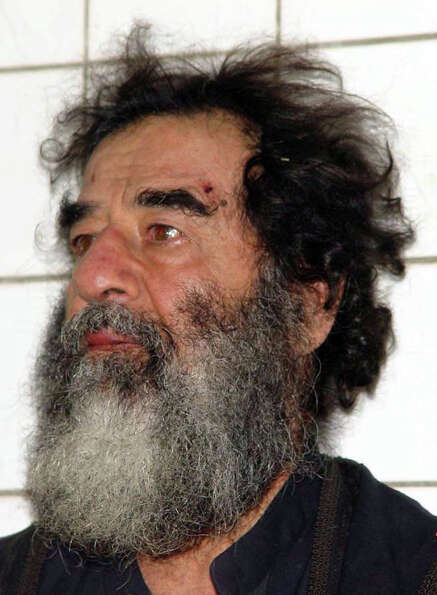 A photo of Saddam Hussein after his capture December 14, 2003. U.S. troops captured Saddam Hussein n