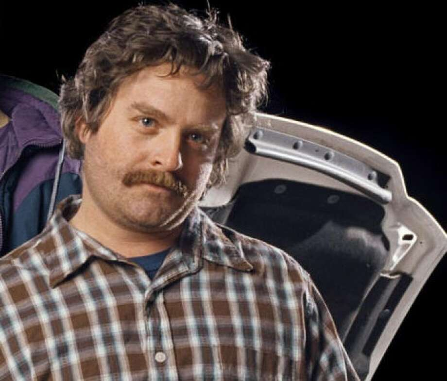 Zach Galifianakis, without a beard (but still rockin' a sweet 'stache)PHOTO BY IAN WHITE/ASSOCIATED PRESS