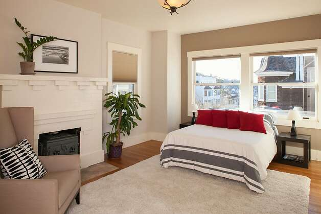 The master bedroom has views of Ashbury Heights. Photo: Trevor Henley, Henley Photography