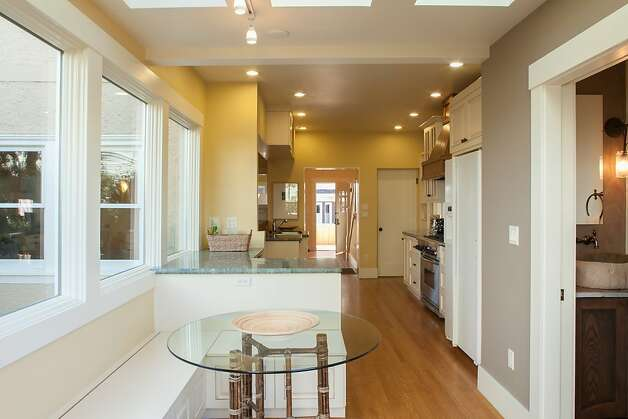 Skylights and recessed lighting illuminates the three-bedroom home. Photo: Trevor Henley, Henley Photography