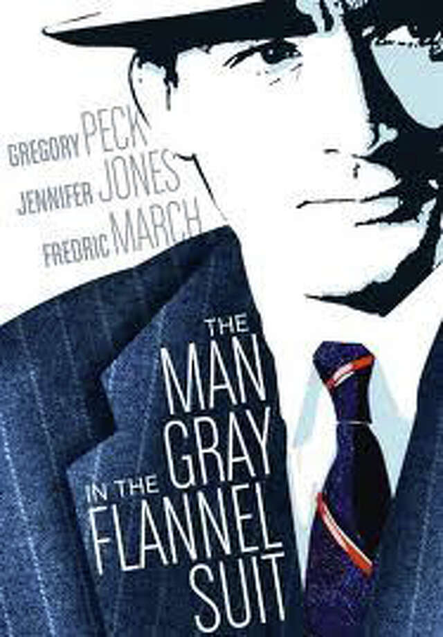 "A poster for the 1956 movie, ""The Man in the Gray Flannel Suit,"" which starred Gregory Peck as a Westport commuter and featured footage shot in town. Photo: Contributed Photo / Westport News contributed"