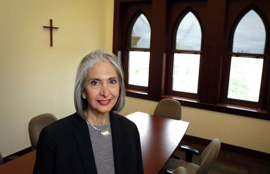 Tessa Martinez Pollack, who was removed as president of Our Lady of the Lake University, on Feb. 7. She became OLLU's first Hispanic president in 2002, and leaves her position later this month. Photo: Bob Owen / Express-News