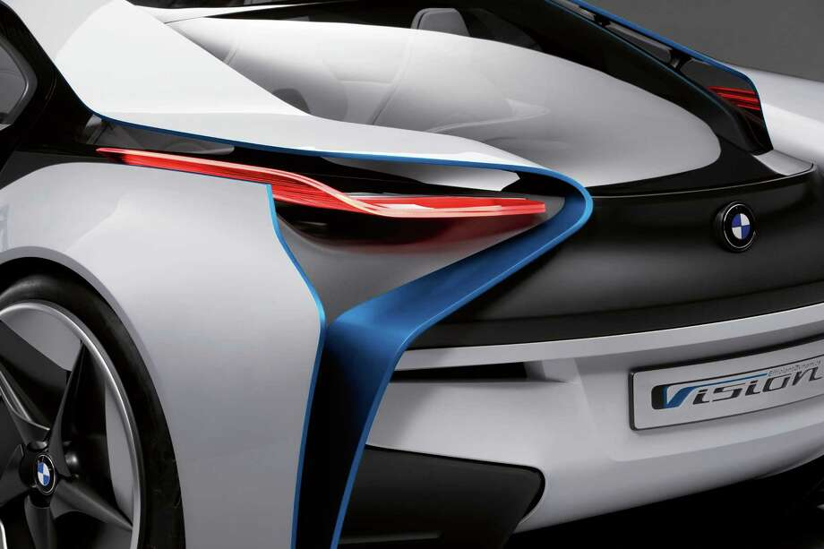 BMW Vision EfficientDynamics debuted in 2009. The car fuses futuristic, aerodynamically streamlined design with a reduction in fuel consumption and emissions. Photo: BMW