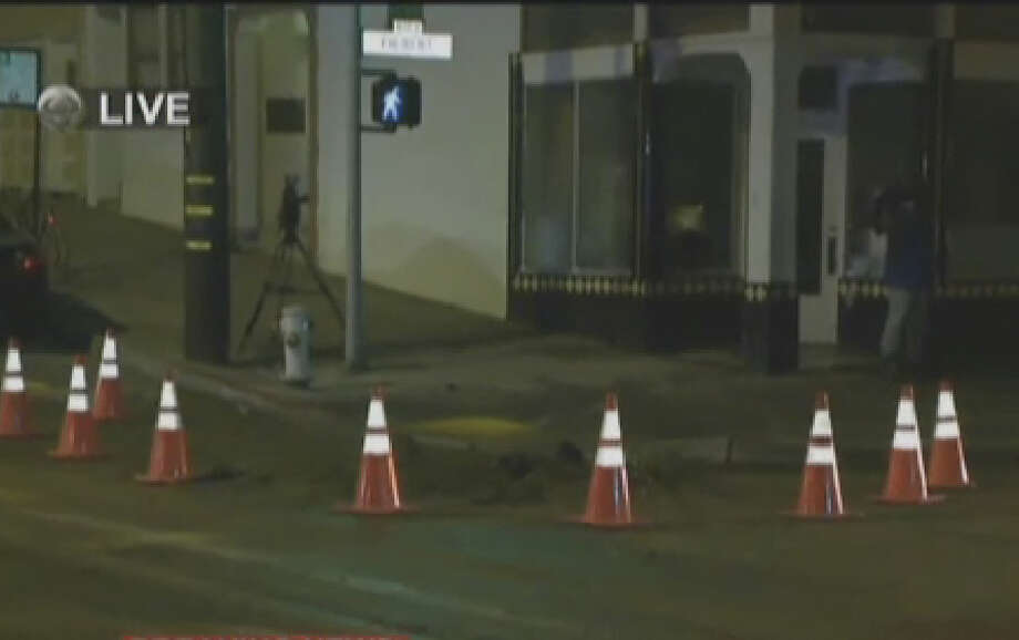 A water main break forced a cable car line to shut down in San Francisco Wednesday morning. Photo: CBS San Francisco