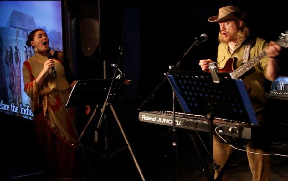 """Bonnie Lykes and Sean Bigler of the band Epigene performing """"A Wall Street Odyssey: The City, the Country and Back Again,"""" scheduled for 8 p.m. Saturday at The Linda. (Photo courtesy the artists)"""
