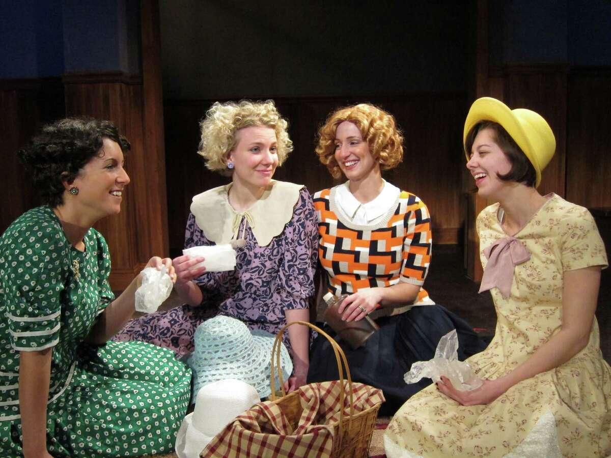 "Sarah Wasserbach, left, Lydia Nightingale, Tara Burnham and Dana Goodknight in Curtain Call Theate's production of ""These Shining Lives."" (Kevin Gardner)"