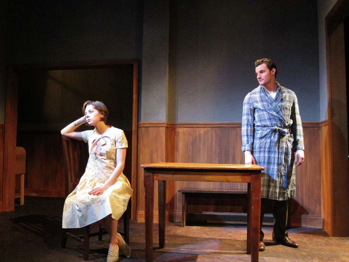"""Dana Goodknight and Paul Dederickin Curtain Call Theate's production of """"These Shining Lives."""" (Kevin Gardner)"""