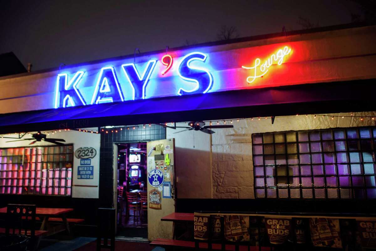 Kay's Lounge Opened: 1962 Closed: 2016 Best known for: That Texas table, the outside patio, hot dogs, and being a frequent haunt of Dave Ward and Dr. Red Duke back in the day.