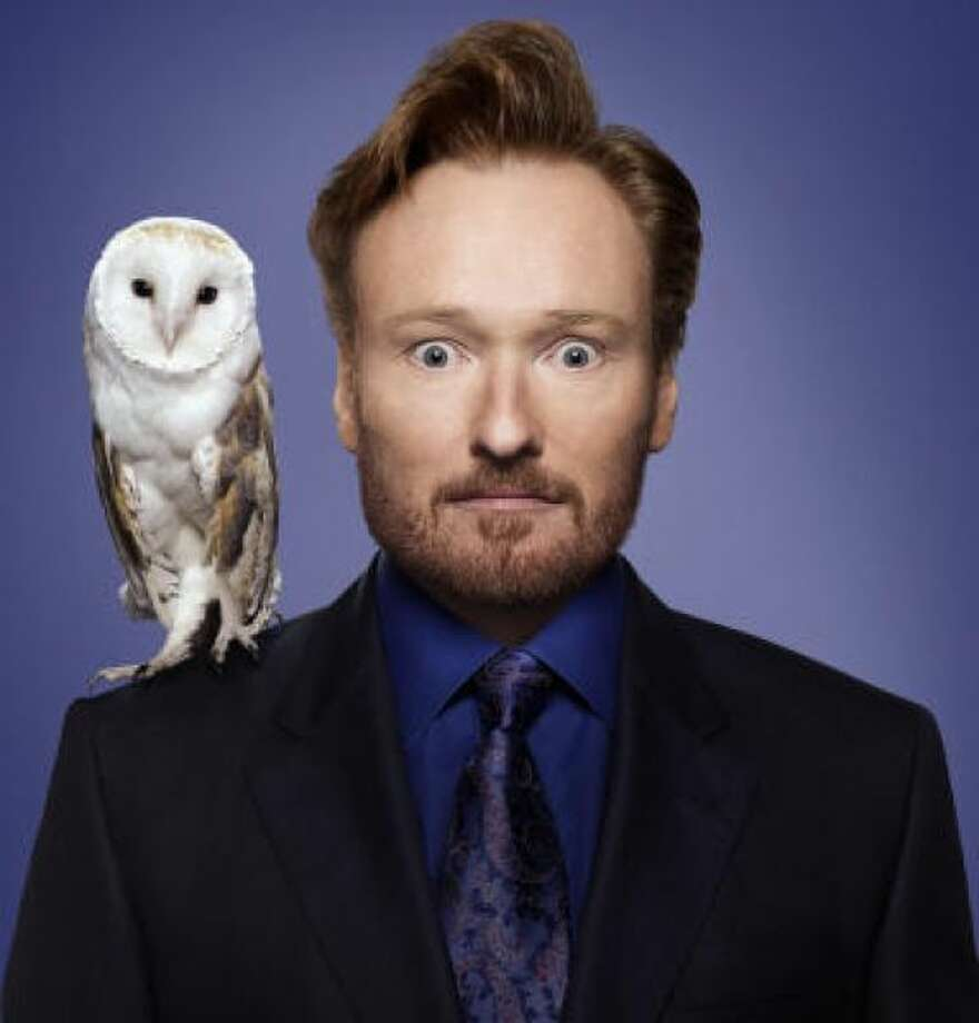 New show, new facial hair for Conan O'BrienHANDOUT